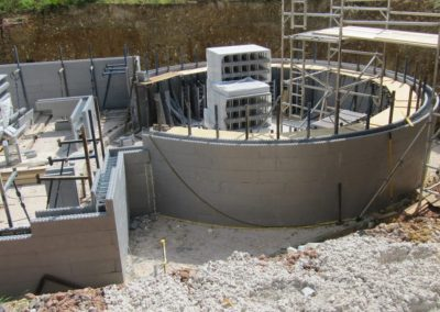 Curved ICF Wall