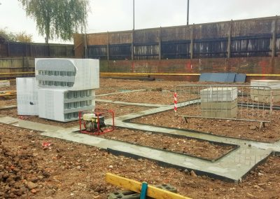 Foundations for ICF walls