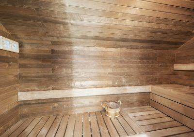 A sauna in an ICF house