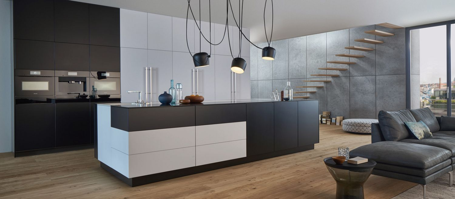 This is an image of modern kitchen storage