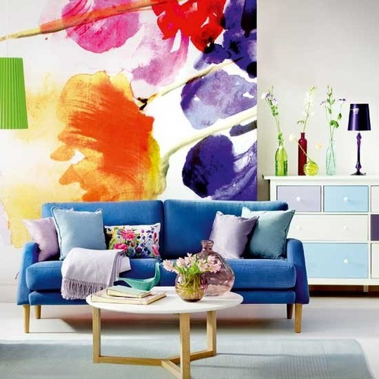 This is an image of splashes of colour in interiors