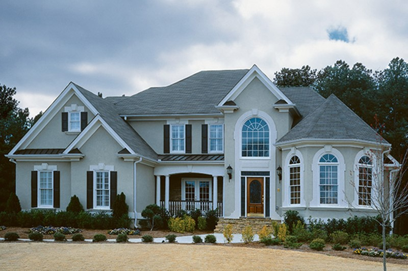 This is an image of a traditional style house design