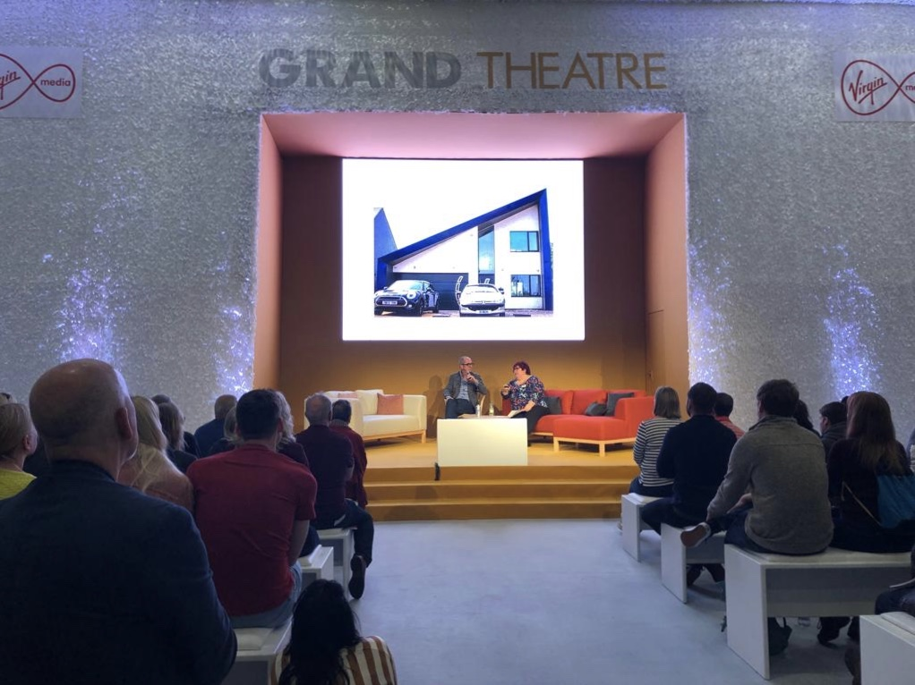 This is an image of Thermoroof panels at Grand Designs Live