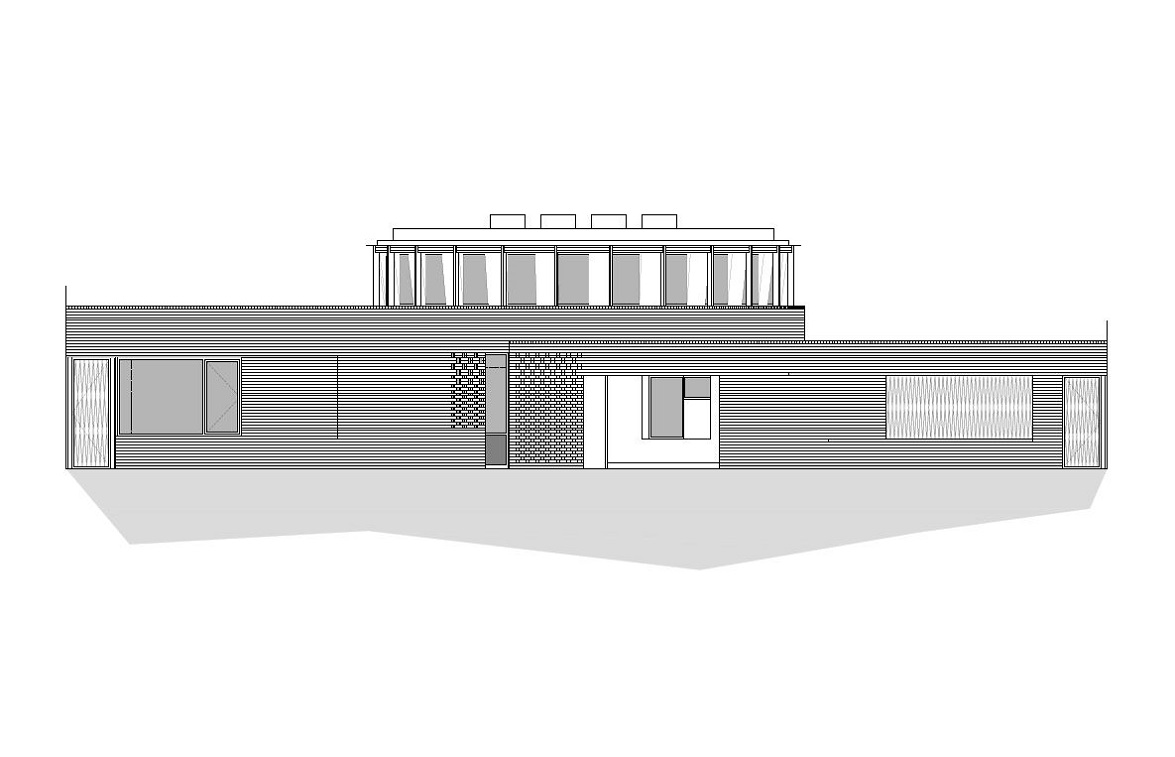 Architect's elevation drawing of an ICF building in Hammersmith