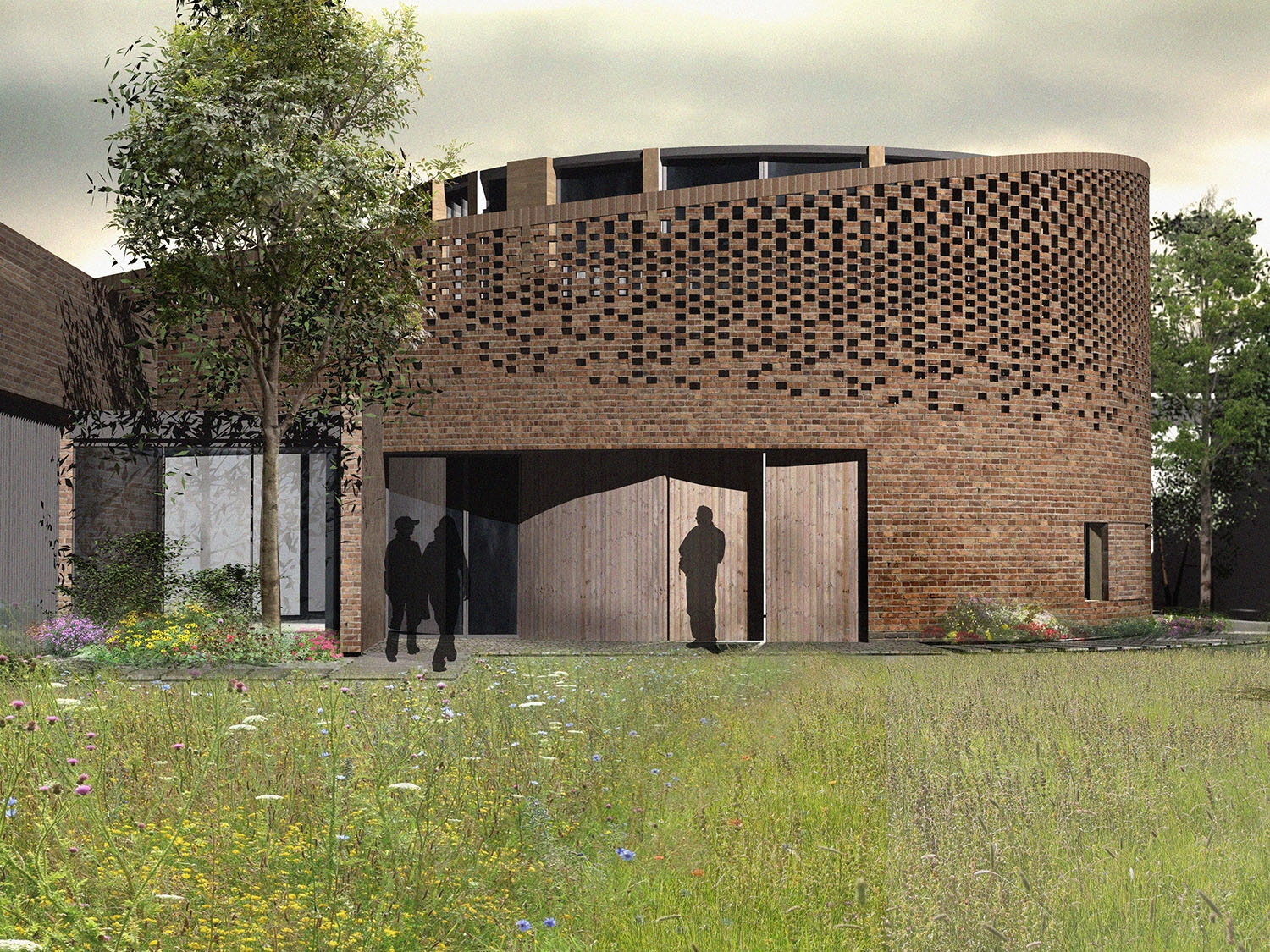Architects 3D render of the front of an ICF Building in Hammersmith